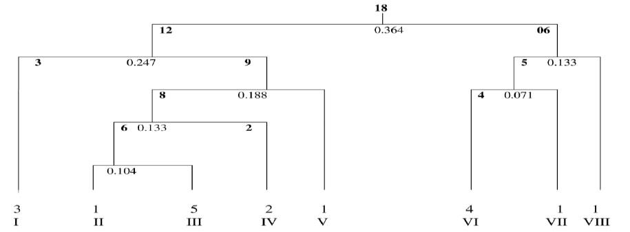 Classification of Tree Species on the basis of TWISNPAN.