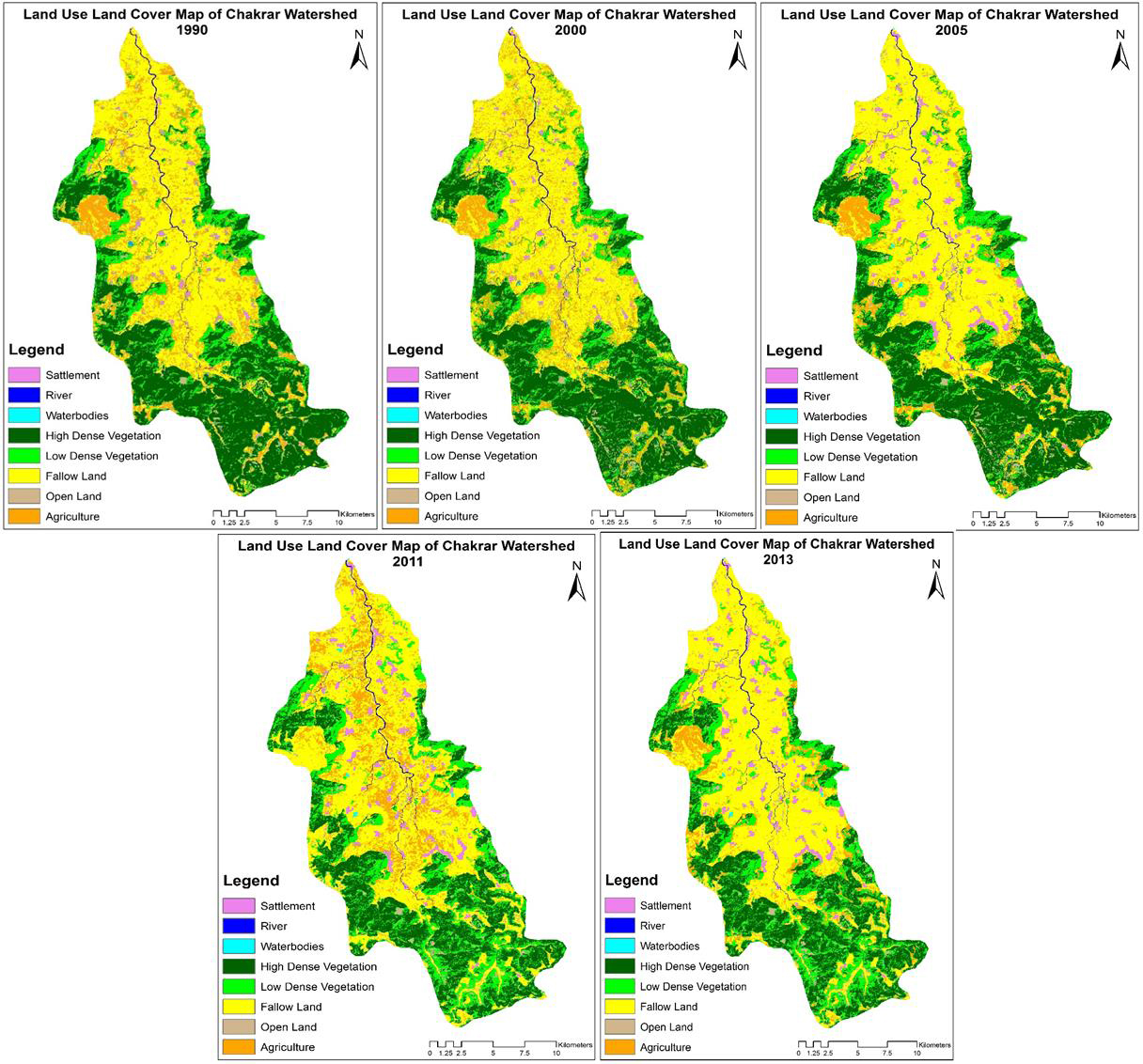 Assessment of Land use Land cover Change in Chakrar Watershed using Geospatial Technique.